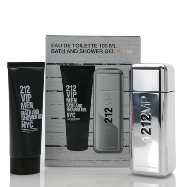 212 vip men gift set by carolina herrera 2 piece gift set for Mens bath set